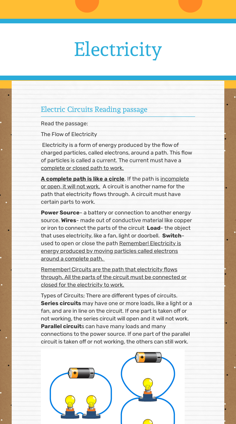 - Electricity Interactive Worksheet By Michelle Rush Wizer.me
