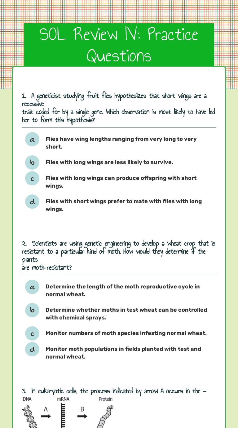 Green flies asexual reproduction worksheets